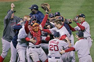 Boston celebra campeonato Serie Mundial